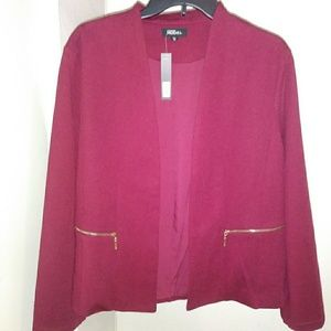 NWT Fashion Model Burgundy Blazer